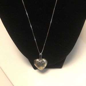 """Jewelry - Silver &Gold Heart Necklace with Silver 20"""" Chain"""